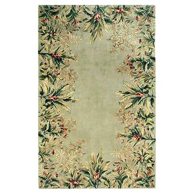 Emerald Sage Tropical Border Area Rug by KAS Rugs