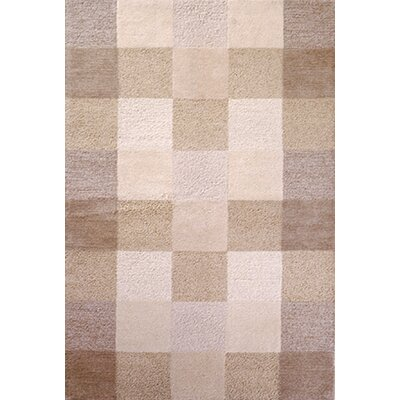 Eternity Ivory Checkerboard Area Rug by KAS Rugs