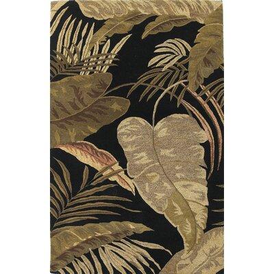 Havana Rainforest Midnight Brown/Tan Plants Area Rug by KAS Rugs