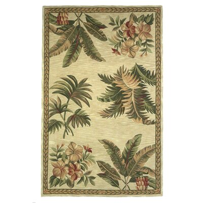 KAS Rugs Sparta Ivory Tropical Oasis Area Rug