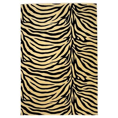 Moda Ivory/Black Zebra Rug by KAS Rugs