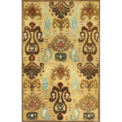 Tapestry Gold Ferozi Area Rug by KAS Rugs