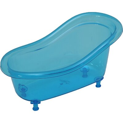 Acrylic Claw Foot Bathtub Basket Counter Top Organizer by Evideco
