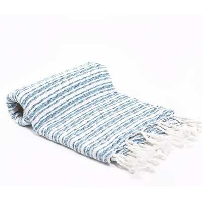 Striped Turkish Peshtemal Fouta Bath Towel by Buldano