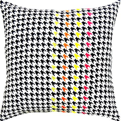 Spun Threads with a Soul® Hounds Tooth Handcrafted Throw Pillow by Welspun