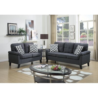 Infini Furnishings IFIN1066 Sofa and Loveseat Set