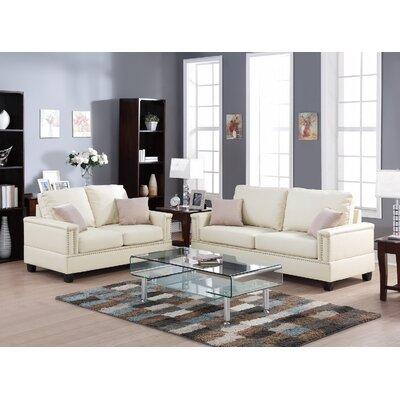 Infini Furnishings IFIN1068 Sofa and Loveseat Set