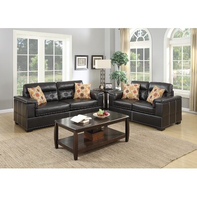 Infini Furnishings IFIN1074 Sofa and Loveseat Set