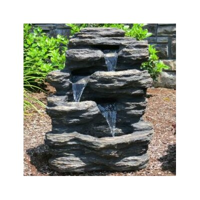 Resin and Fiberglass Rock Waterfall Fountain by BERS