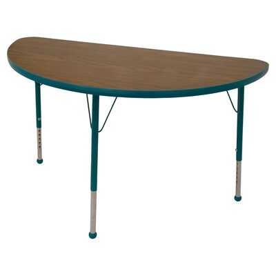"Mahar Creative Colors 48"" x 23.75"" Half Circle Classroom Table"