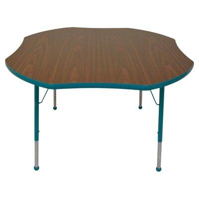 "Mahar Creative Colors 48"" x 48"" Shamrock Classroom Table"
