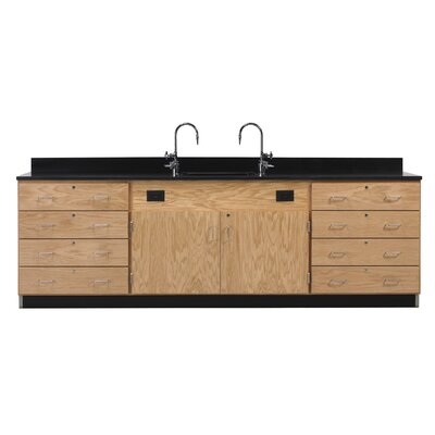 Diversified Woodcrafts Wall Service Bench With Drawer