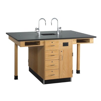 Diversified Woodcrafts Four Station Service Center with Sink