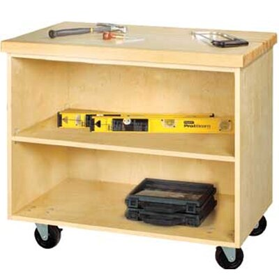 """Diversified Woodcrafts Mobile Series 33"""" H x 36"""" W x 24"""" D Storage Cabinet"""