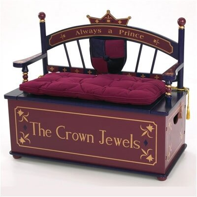 Prince Kid's Storage Bench by Levels of Discovery