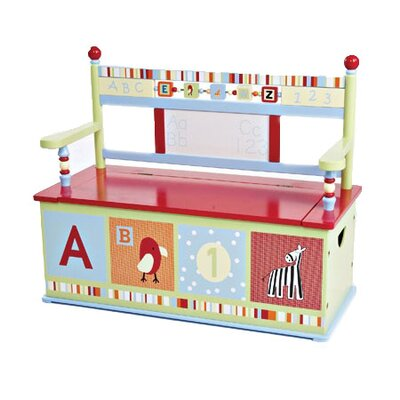 Alphabet Soup Kid's Storage Bench by Levels of Discovery