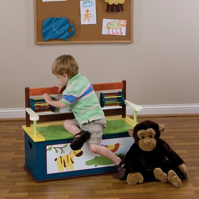 Jungle Jingle Kid's Storage Bench by Levels of Discovery