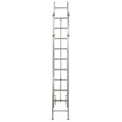 Louisville Ladder Rhino 40 ft Aluminum Industrial Extension Ladder with 300 lb. Load Capacity