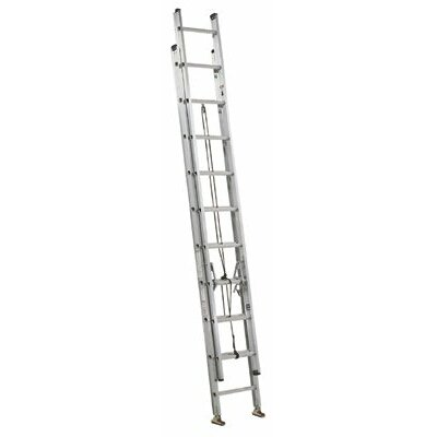 Louisville Ladder 28 ft Aluminum Commander Extension Ladder with 250 lb. Load Capacity
