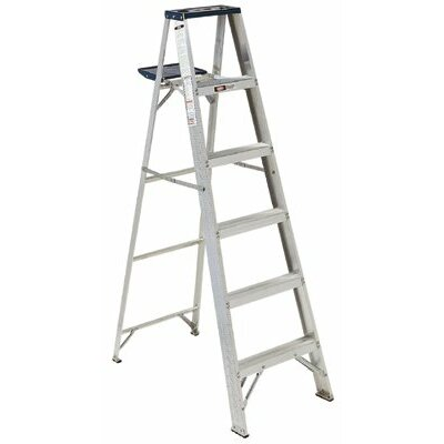 Louisville Ladder 5 ft Aluminum Victor Step Ladder with 225 lb. Load Capacity