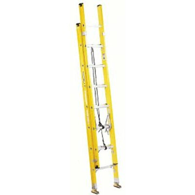 Louisville Ladder 20 ft Fiberglass Electrician Extension Ladder with 250 lb. Load Capacity