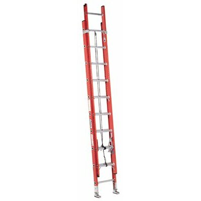 Louisville Ladder 36 ft Fiberglass Extension Ladder with 300 lb. Load Capacity