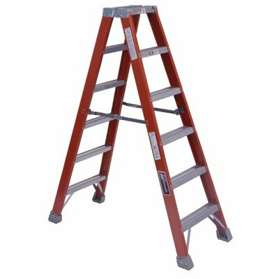 Louisville Ladder 6 ft Fiberglass Step Ladder with 300 lb. Load Capacity