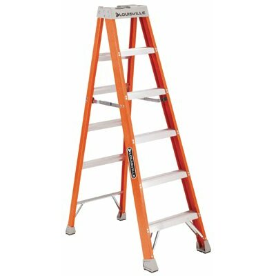 Louisville Ladder 3 ft Fiberglass Step Ladder with 300 lb. Load Capacity
