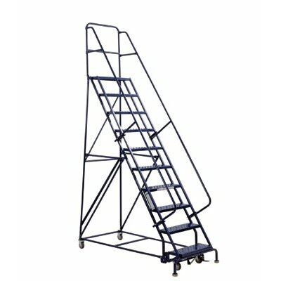 Louisville Ladder 6 ft Steel Rolling Ladder with 375 lb. Load Capacity