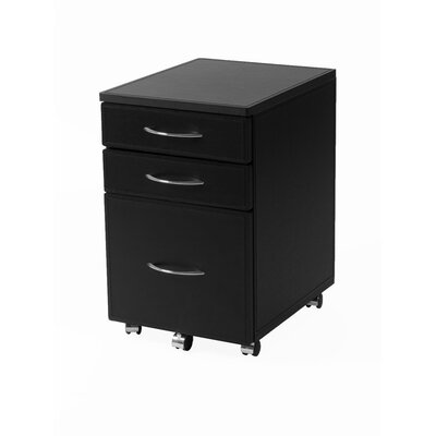 Eurostyle 3 Drawer Laurence High Mobile Filing Cabinet
