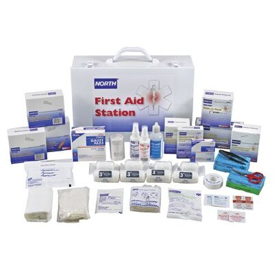 """North Safety First Aid Stations - 100 person first aid kitfilled 15x11x5"""""""