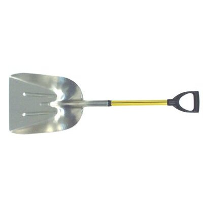 "Nupla Aluminum Scoops - ags14 #14 blade 27""d handle general poly scoop"