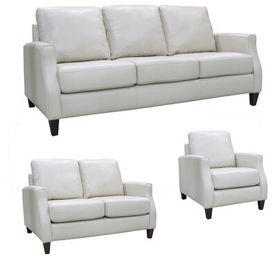 Springfield Top Grain Leather Sofa, Loveseat and Chair Set by Coja