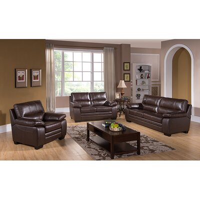 Easton Leather Sofa, Loveseat and Chair Set by Coja