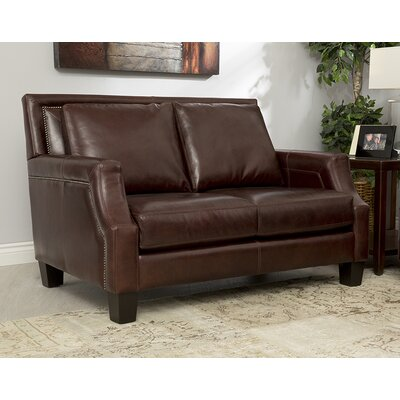 Salem Italian Leather Loveseat by Coja