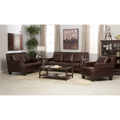 Salem 3 Piece Italian Leather Sofa, Loveseat and Chair Set by Coja