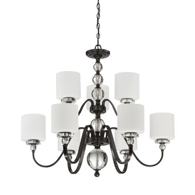 Downtown 9 Light Drum Chandelier by Quoizel