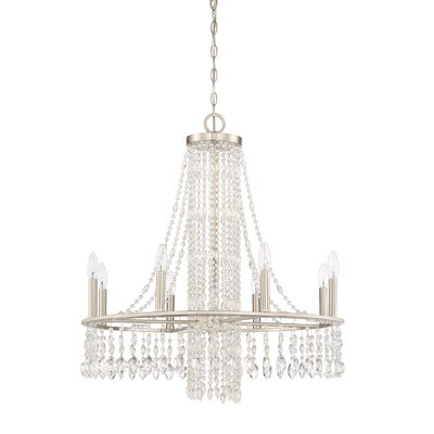 Majestic 9 Light Crystal Chandelier by Quoizel