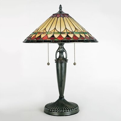 """Quoizel Westlake Tiffany 23"""" H Table Lamp with Empire Shade"""