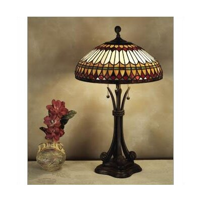 "Quoizel West End Tiffany 26.5"" H Table Lamp with Bowl Shade"