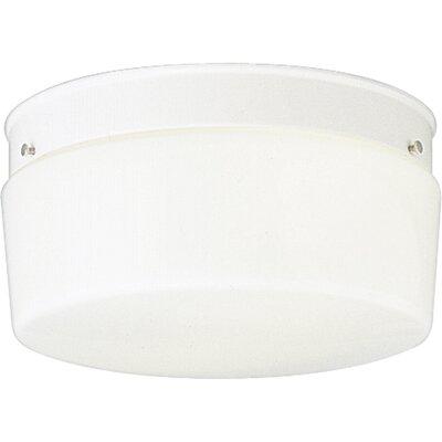Progress Lighting Glass White Snap-in Fitter Flush Mount