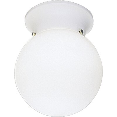 White Acrylic Globe Semi Flush Mount by Progress Lighting