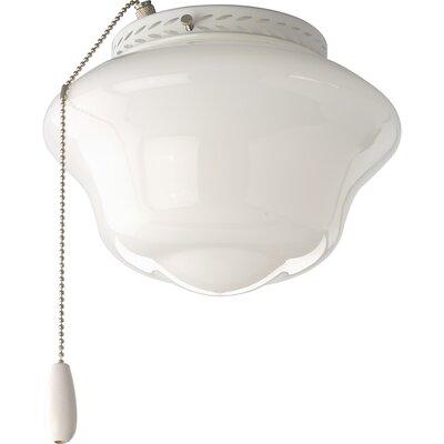 Progress Lighting AirPro 1 Light Universal Schoolhouse Ceiling Fan Light Kit