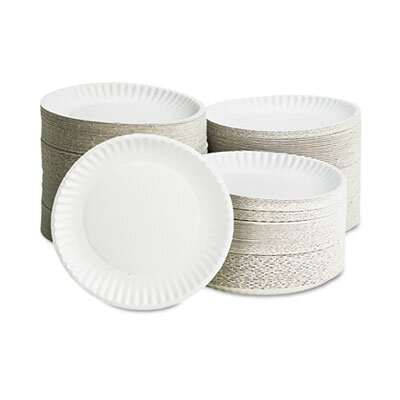 "Solo Cups Ajm Packaging Corporation Paper Plates, 9"" Diameter, 10 Bags of 100/Carton"