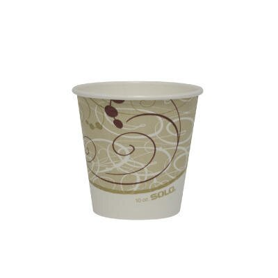 Solo Cups Polylined Paper Hot Cup Symphony Design in Beige / White