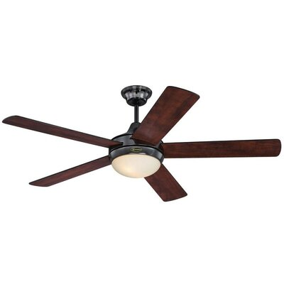 "52"" Zander 5 Blade Indoor Ceiling Fan with Remote Product Photo"