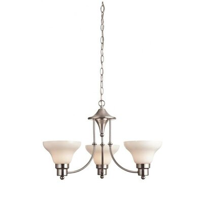 Swanstone 3 Light Chandelier Product Photo