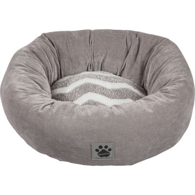 Snoozzy Hip as a Zig Zag Shearling Round Bed by Precision Pet