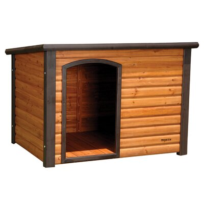 The Precision Pet Outback Extreme Log Cabin Dog House is portable and can be placed in any corner of your home.