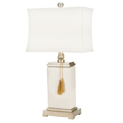 "Safavieh Porcelain 29.5"" H Table Lamp with Rectangular Shade"